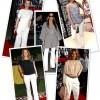 Beyaz Bayan Pantolon Kombinleri