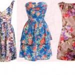 çiçek desenli genç elbise modelleri