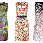2014 çicek desenli Yazlık Elbise Modelleri Genç