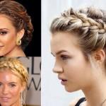 2015 örgülü topuz saç modelleri