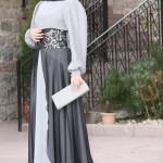 2015 genç kız Tesettür abiye elbise