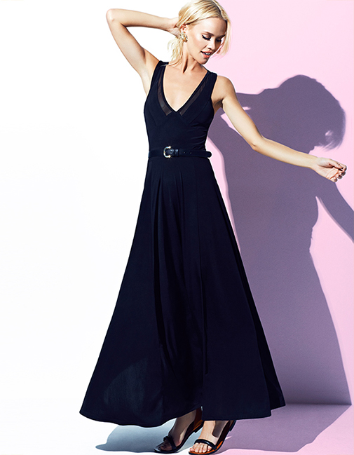 Batik Siyah Uzun Elbise