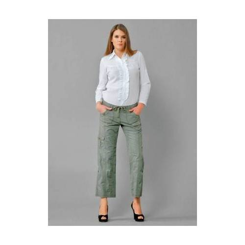 Bayan Yeşil Kargo Pantolon