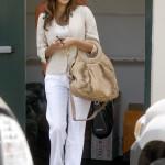 Bayan beyaz keten pantolon