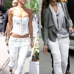 Beyaz bayan kot pantolon modelleri