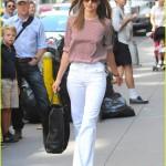 Beyaz geniş bayan pantolon