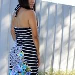 Çizgili uzun elbise