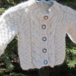 El örgüsü kalın bebek kazak