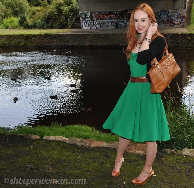 En Güzel Su Yeşili Elbise