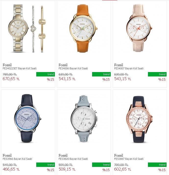 Fossil saat fiyatları