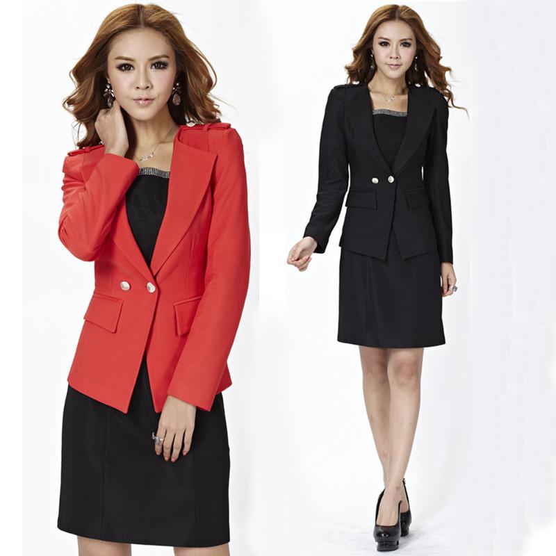 Kırmızı Siyah Bayan Takım Elbise