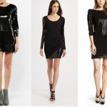 Payetli kısa siyah elbiseler