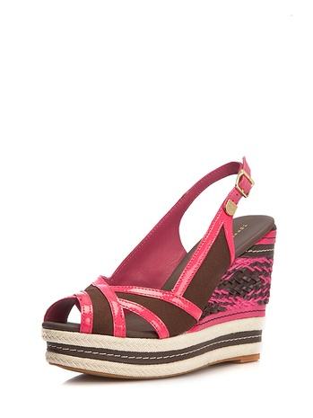 Pembe Dolgu Topuk Ayakkabı