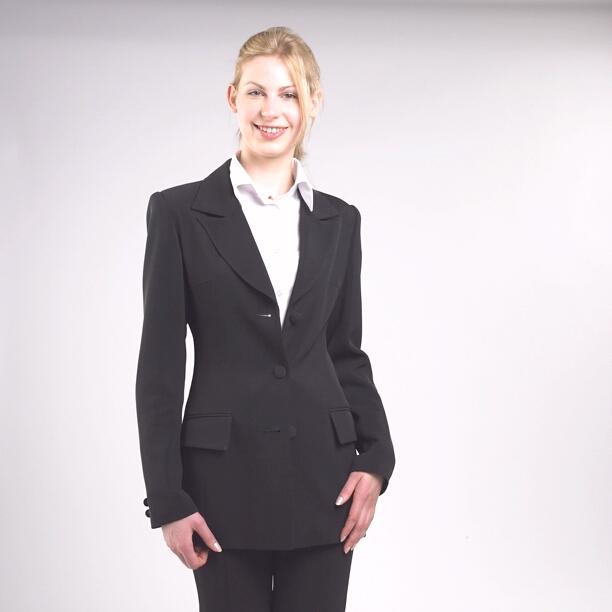Siyah Bayan Takım Elbise