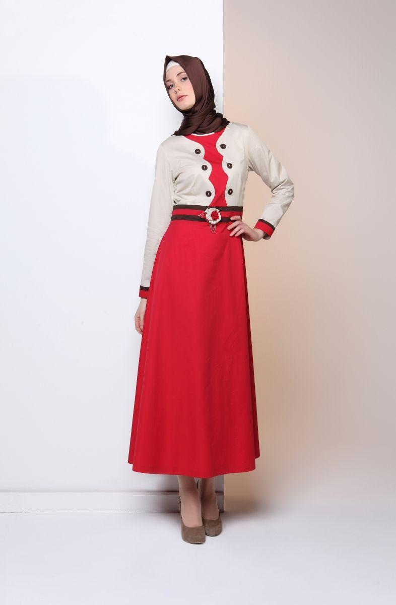 Tekbir kırmızı elbise