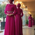 Tesettür abiye elbise modanisa