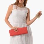 Tozlu giyim bel kemerli beyaz elbise