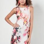 Trendyol Çiçek Desenli Kisa Elbise