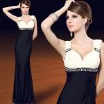 Uzun dekoltesiz elbise