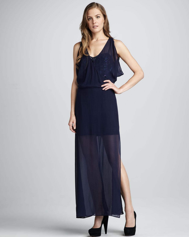 Uzun payetli elbise