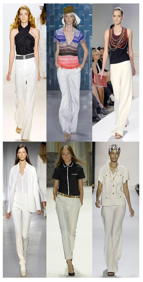 Yazlık bayan beyaz pantolon modelleri