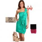 Yeni Trend Su Yeşili Elbise