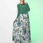 Yeşil tesettür elbise