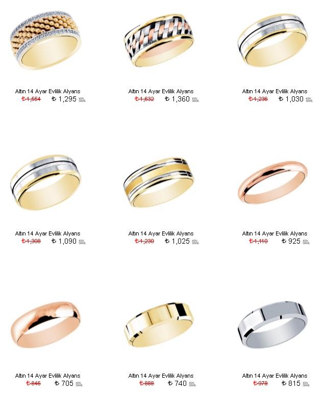 altın alyans modelleri ve fiyatları