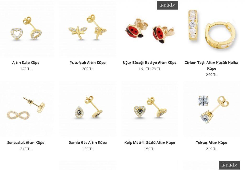 altın küpe modelleri ve fiyatları