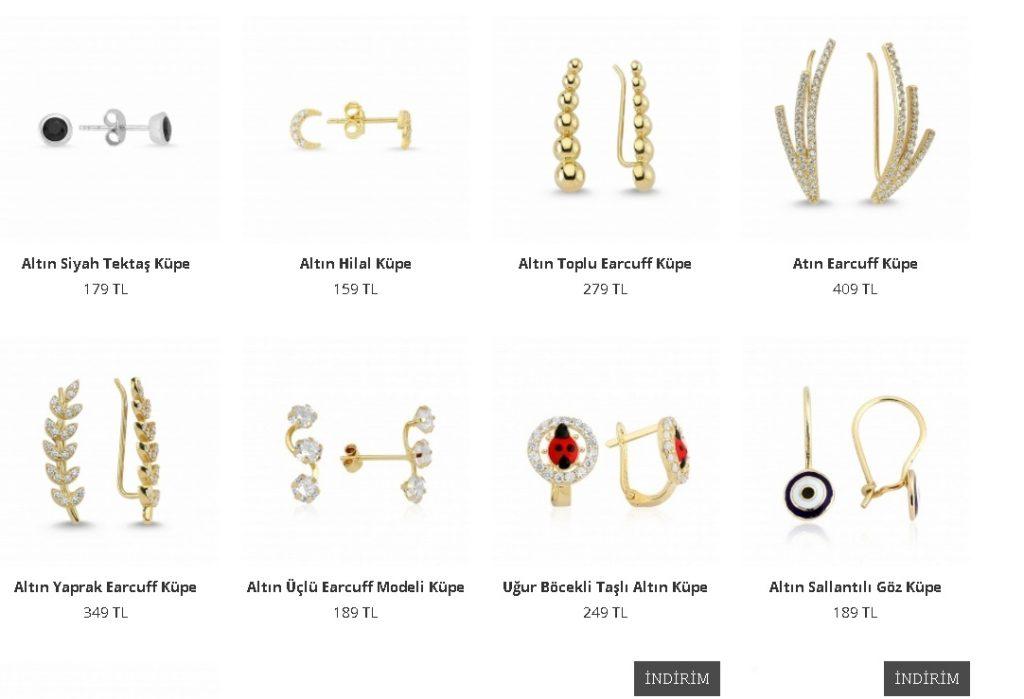 beyaz altın küpe modelleri ve fiyatları