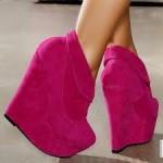 dolgu topuk bayan ayakkabı modelleri 2014