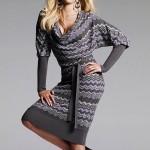 en modern Koton Kışlık Elbise Modelleri