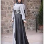 genç kız Tesettür abiye elbise