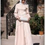 genç kız Tesettür abiye elbise modelleri