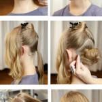 kız çocuk topuz saç modelleri
