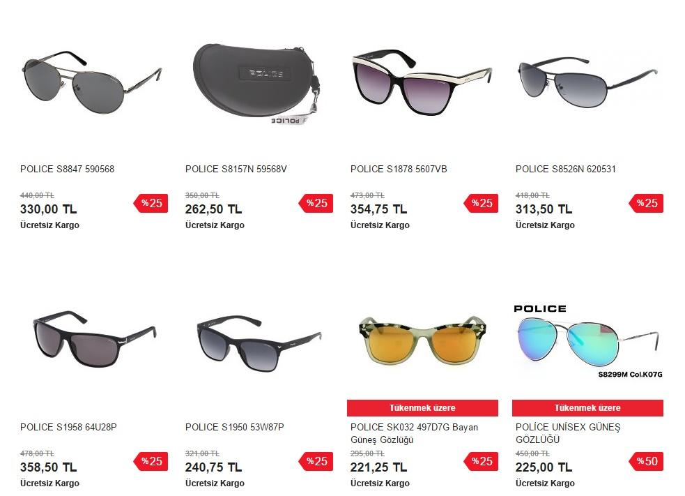 police gözlük modelleri