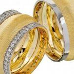 taşlı Altın alyans modelleri