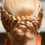 yeni örgülü topuz saç modelleri