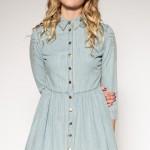 Açık Mavi Kot Elbise