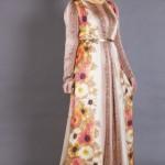 Armine Çiçek Desenli Tesettür Elbise