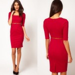 Bayan Resmi Giyim Kırmızı Elbise