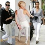 Bayan beyaz kumaş pantolon