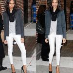 Boru paça beyaz bayan pantolon
