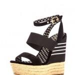 Dolgu Topuk Siyah Platform Ayakkabı