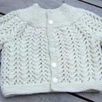 Kışlık örgü bebek kazak modeli