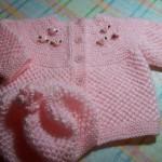 Kolay örgü bebek kazağı