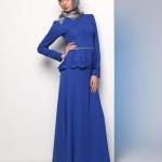 Mavi tesettür elbise