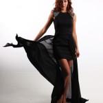 Önü Kısa Arkası Uzun Siyah Elbise
