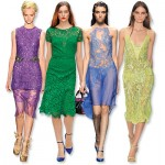 Renkli dantelli elbiseler