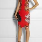 Roberto Cavalli Kırmızı Desenli Elbise